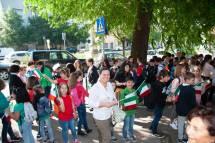 Arrivano a San Pancrazio i gruppi visite sui luoghi: ecco l' elementare IV C con la Maestra M. Luisa Palmieri da Largo Oriani, contenta … Foto autorizzate