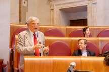 Parla Enrico Luciani, accanto a lui il prof. i Filippo Lovison e la dr.ssa Oriana Rizzuto della BSMC