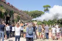Il cannone spara: e dal fotografo Marco Lanciani riceviamo due belle foto…