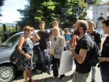 Arrivati al Parco, Roberto Calabria saluta la classe: gli viene rivolto un affettuoso saluto. Grazie
