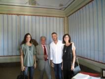 Enrico Luciani con Luciano Giulianelli, vice Sindaco di Scarlino, con Alessia e la figlia Rita