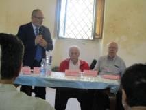 Eugenio  Fusignani , vice sindaco di Ravenna, con Mino Consumi e il prof. Fabio Bertini