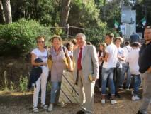Luciani saluta le proff.sse Costantino Facchino e Samuela Bruna Monti della III A e III B