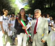 Enrico Luciani invita a Roma , al Gianicolo, Francesca Travison - sindaca di Scarlino