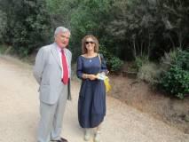 Enrico Luciani saluta Irene Marconi assessore Cultura e Scuola di Massa Marittima