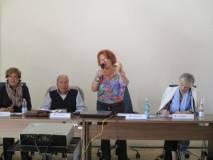 Interventi finali:(da sin.) Anna Maria Cerioni, Claudio Fracassi, Cristina Giorcelli, Gemma Guerrini