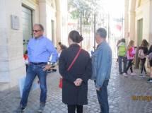Massimo Capoccetti in attesa del turno d'ingresso