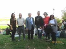 Ancora una foto di gruppo per gli insegnanti e i conduttori della visita
