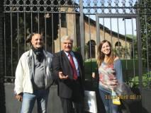 All'ottavo bastione Enrico Luciani tra il prof. Alessandro Granata e la professoressa Daniela Liberatori