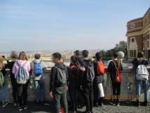 Davanti al Fontanone il panorama di Roma…