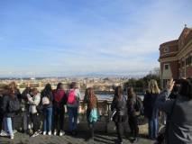 Il panorama di Roma davanti al Fontanone