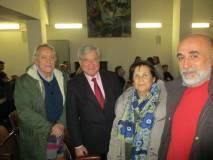 Enrico Luciani e Giovanna De Luca tra il prof. Massimo Tegolini e il Consigliere XII Domenico Basile