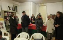 In attesa: in primo piano Roberto Luciani, Giovanna De Luca, Ivana Colletta , Noemi Grimaldi