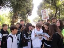 I ragazzi impegnati a conoscere l'Esercito della Repubblica romana e i luoghi come erano nel 1849