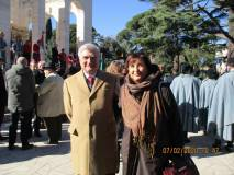 Enrico Luciani e Giovanna De Luca presenti in rappresentanza dell'Associazione A. Cipriani e Comitato Gianicolo, gentilmente richiamata nella relazione del Gen. Simeone