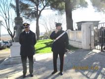 Presenti  i Carabinieri con il comandante Agostino Pinca sempre vigile