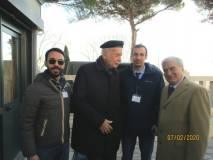 Una foto ricordo per i bravi volontari con l'ambasciatore Alessandro Cortese De Bosis ed Enrico Luciani