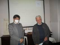 Giulio de Martino con il prof Giuseppe Monsagrati
