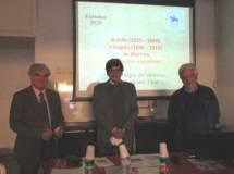 Enrico Luciani con i proff. de Martino e Monsagrati