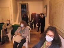 Noemi Grimaldi, Daniela Donghia, Mario Savelli: in fondo Giovanna e Marisa, seduto Iacianci