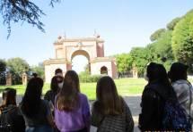 La spiegazione dell'Arco dei Quattro Venti ricostruito sui ruderi di Villa Corsini detto Casale dei Quattro Venti