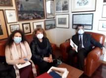 Noemi Cavicchia con Daniela Donghia e Marco Pizzo