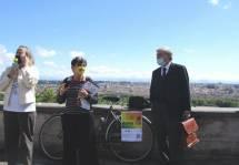 Saluti a Sabrina Alfonsi presidente Municipio Roma I e a Enrico Luciani pres. A. Cipriani e Comitato Gianicolo