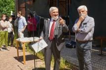Enrico Luciani con Giuseppe Monsagrati che ricorda Cesare Balzarro, oggi impossibilitato a partecipare