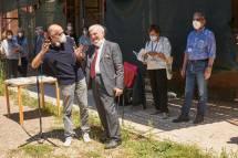 anche il Municipio XII arriva: è Domenico Basile, presidente commissione cultura. Ci ringrazia e dice... sempre bravi, ho imparato tanto, e non ci hanno mai chiesto una lira… Grazie, Basile