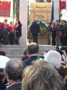 Cerimonia al MAUSOLEO: La corona ai CADUTI
