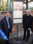 VILLA SPADA pannello 6: inaugurano il presidente del Comitato (prof. Monsagrati) e l'assessore regionale (Robilotta)