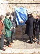 VILLA SAVORELLI-AURELIA pannello 5: inaugurano l'omonimo pronipote di Giuseppe Garibaldi e l'assessore regionale (Robilotta)