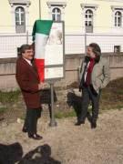 VILLA PAMPHILI pannello 1: dopo aver salutato alcuni Sindaci del Lazio, arriva Fabio Bellini presidente del XVI Municipio
