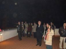 MUSEO GARIBALDINO DI PORTA SAN PANCRAZIO: I fuochi dalla terrazza, tra i presenti, in primo piano, Mino Federici del Comitato Gianicolo