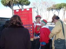 PIAZZALE GARIBALDI installazione PANNELLO 9 (Il Gianicolo e la Repubblica Romana) sono arrivati i garibaldini