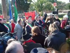 PIAZZALE GARIBALDI installazione PANNELLO 9 (Il Gianicolo e la Repubblica Romana): il discorso dell'assessore Borgna