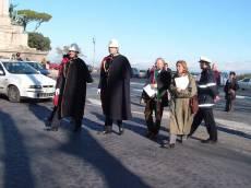 PIAZZALE GARIBALDI installazione PANNELLO 9 (Il Gianicolo e la Repubblica Romana): arriva per il COMUNE DI ROMA l'assessore alla Cultura, Gianni Borgna