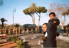 PIAZZALE GARIBALDI installazione PANNELLO 9 (Il Gianicolo e la Repubblica Romana): arriva la banda