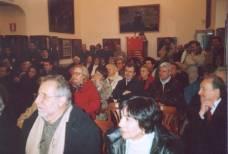 MUSEO GARIBALDINO di PORTA SAN PANCRAZIO Il DIBATTITO: tra i presenti,in primo piano Franco Cianfrocca e la signora Anna della soc. POLIEDRO