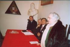 MUSEO GARIBALDINO di PORTA SAN PANCRAZIO Il DIBATTITO: Giuseppe Garibaldi, Cesare Balzarro, Luciani durante l'intervento dela prof. Limiti