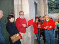ALIM6560 Maria Rosa Carrano, bibliotecaria del cipriani premia con Fabio Bellini la banda_small