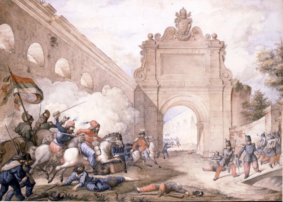 Vincenzo Galassi, Battaglia del 30 aprile 1849         su gentile concessione della Galleria Apolloni