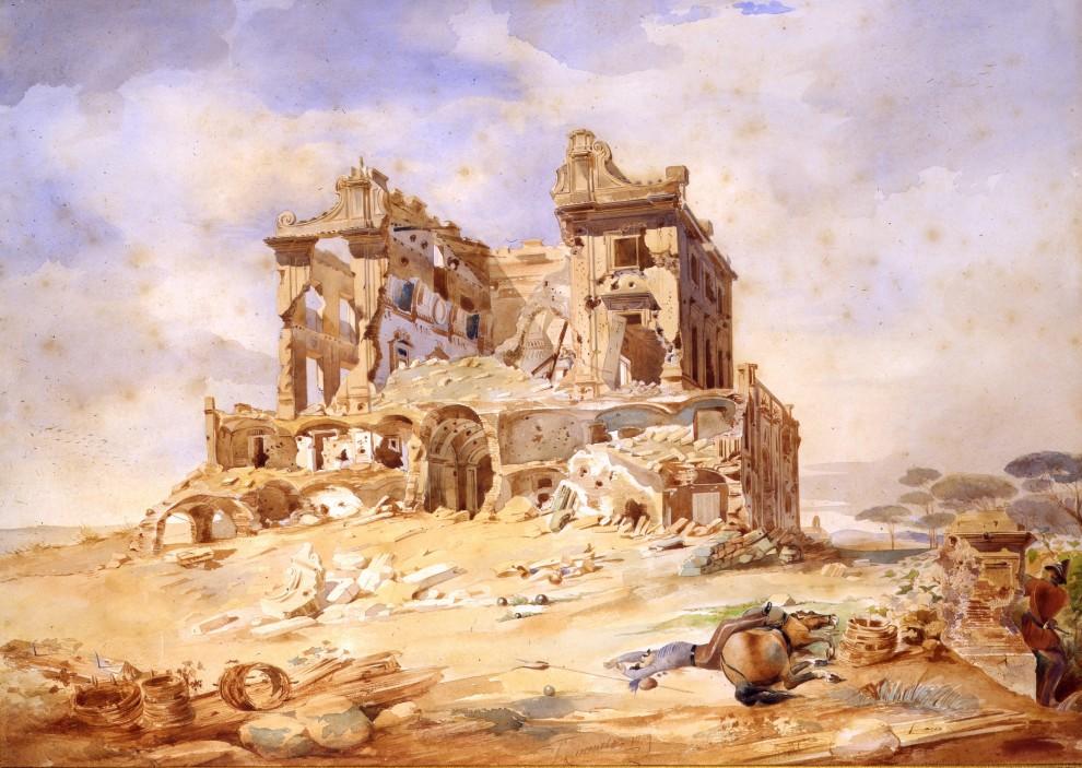 Casino dei Quattro Venti dopo i bombardamenti (Galleria Apolloni)