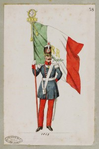 Portabandiera – 2° Rgt. Fanteria - 1849 Raccolta Piroli – Museo Centrale del Risorgimento