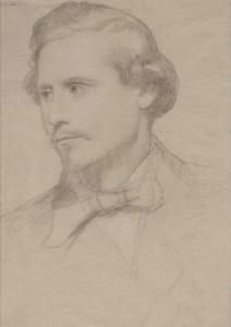 Roberto Bompiani ,  Goffredo Mameli ritratto dal vivo (1849) Roma, Museo Centrale del Risorgimento