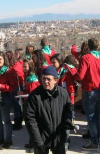 Carlo Cittadini il 3 luglio 2011 con noi al Mausoleo, e nella foto il 9.2.13 al Belvedere