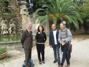 Enrico Luciani, la prof.ssa Maria Pia Blasi, Massimo Capoccetti, l'ins. Eva De Groodt