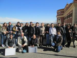 foto di gruppo al Fontanone (dove inizia il film La grande bellezza – OSCAR)