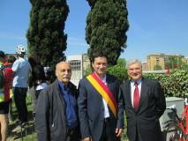 Maurizio Veloccia, presidente del Municipio Roma XI,  con Enrico Luciani e Ferdinando Ferrara (a sinistra)