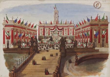 Anonimo - Festeggiamenti per la Costituente Romana        BSMC (Biblioteca Storia Moderna e Contemporanea)